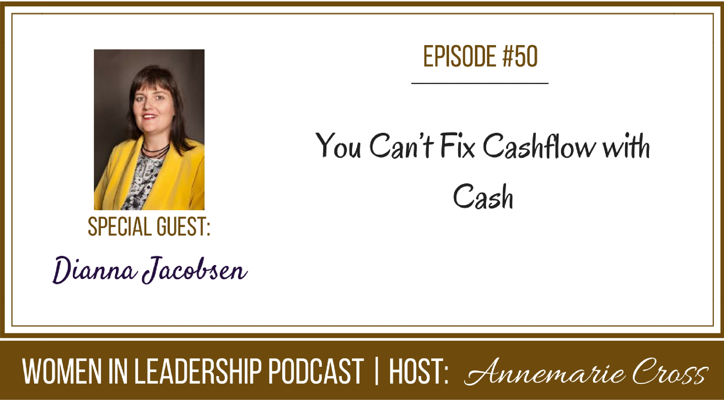[Ep#50] You Can't Fix Cashflow with Cash [podcast]